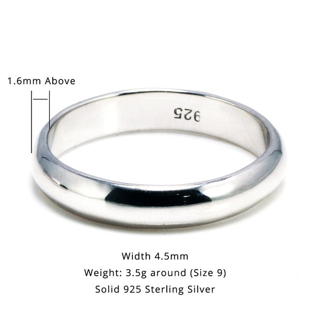 Simple Couple Ring 925 Sterling Silver - Razzyy