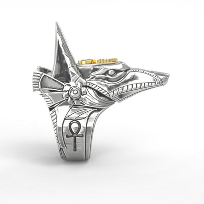 Anubis Stainless Steel Ring - Razzyy