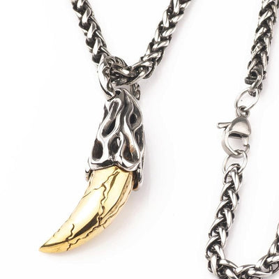 Stainless Steel Viking wolf tooth Pendant&Necklace - Razzyy