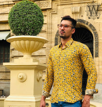 Load image into Gallery viewer, Yellow Floral Shirt.