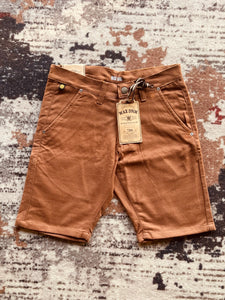 Brown Twill Shorts.