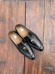 Embosed Black Loafers