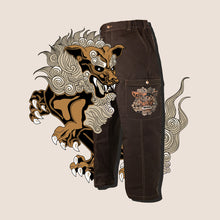"Load image into Gallery viewer, ""FOO LION"" CARGO Pants BROWN"