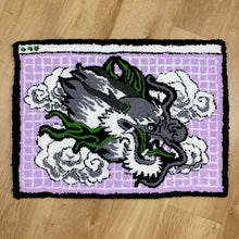 "Load image into Gallery viewer, HAND MADE "" CYBER DRAGON"" WALL HANGING RUG"