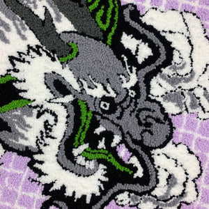 "HAND MADE "" CYBER DRAGON"" WALL HANGING RUG"