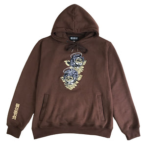 """BROWN Cherub"" Hoodie EMBROIDERED"