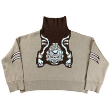 "Load image into Gallery viewer, ""CG Kitsune"" Knit Sweater Beige"