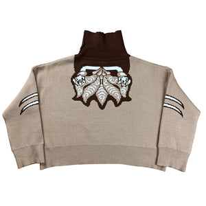 """CG Kitsune"" Knit Sweater Beige"