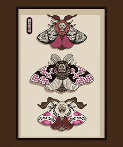 """Moth Sketchbook Cover + Wall Prints PRINTABLE DOWNLOAD"