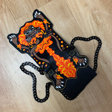 "Load image into Gallery viewer, HAND MADE LEATHER ""Lion"" MINI BAG Orange"