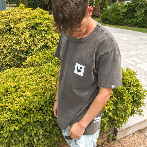 Unisex Oversize T-shirt - Charcoal - THE LOGGOS