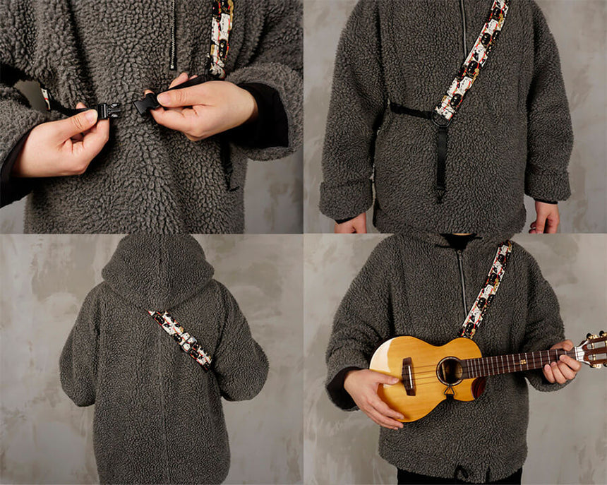the clip on ukulele hook strap instructions