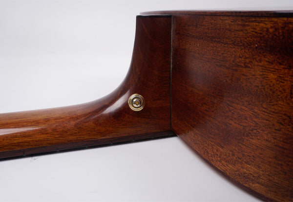 install strap button on the acoustic guitar neck