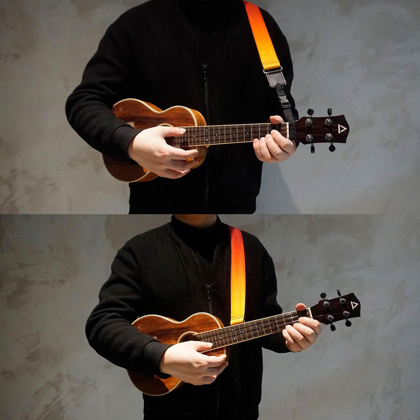 how to use our ukulele shoulder strap.