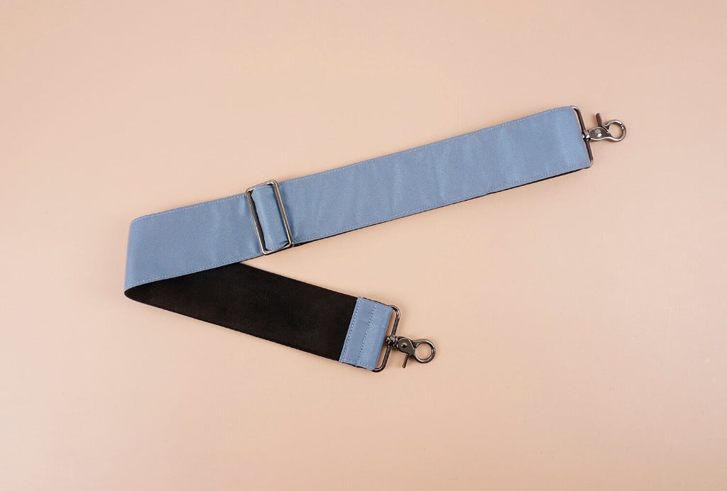 Replacement shoulder bag strap with Reflective material-light blue-front
