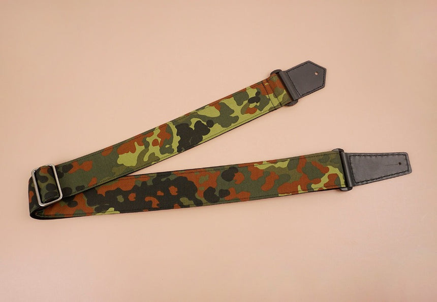 guitar strap with camouflage-1 printed-front-2