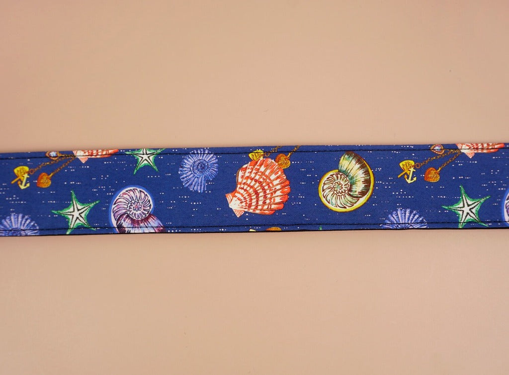 shell printed ukulele shoulder strap-detail-1