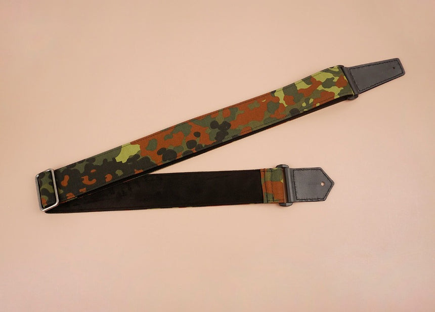 guitar strap with camouflage-1 printed-front-3
