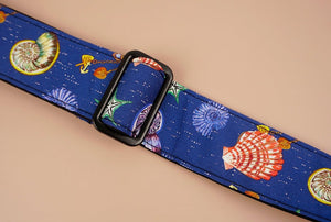 shell printed ukulele shoulder strap-detail-2