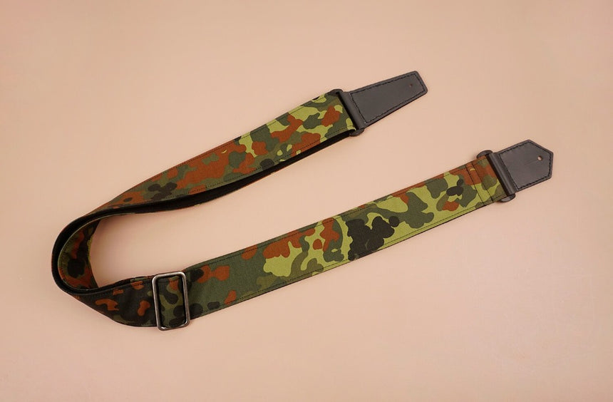 guitar strap with camouflage-1 printed-front-4