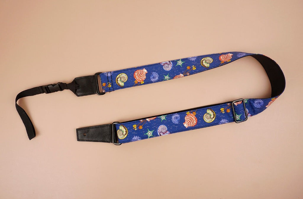 shell printed ukulele shoulder strap-front-2