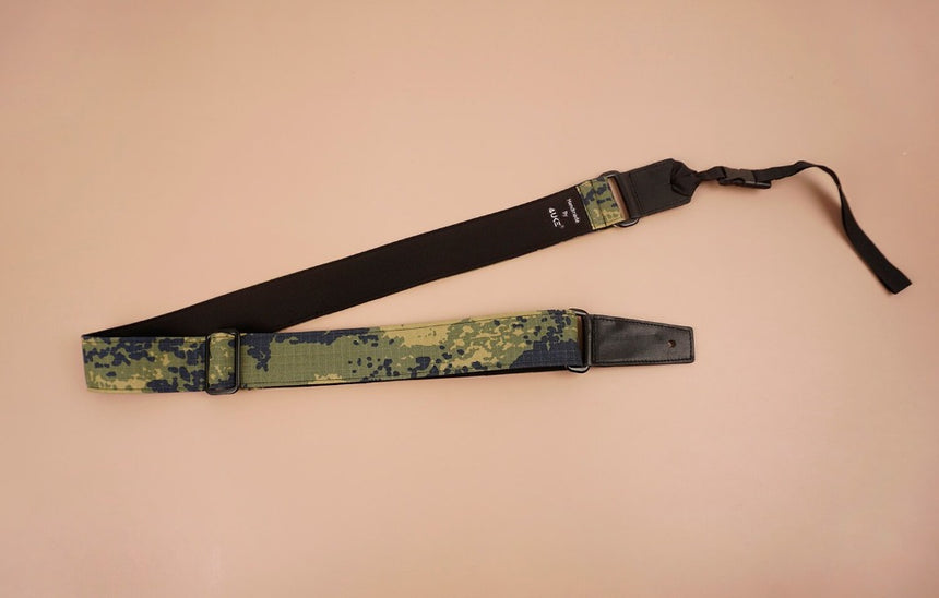ukulele shoulder strap with camouflage printed-front-2