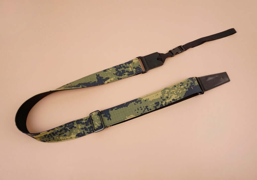 ukulele shoulder strap with camouflage printed-front-3