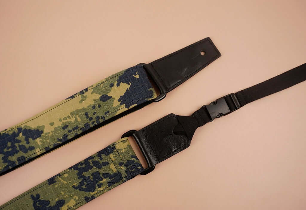 ukulele shoulder strap with camouflage printed-detail-2
