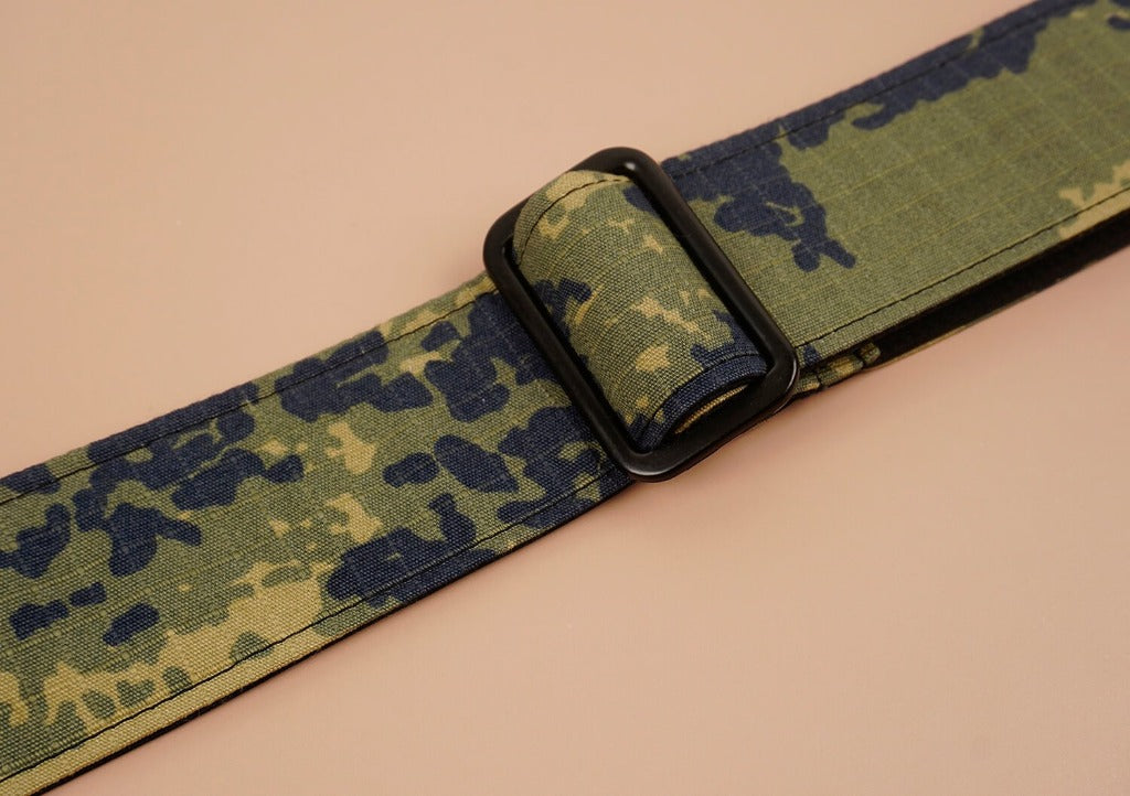 ukulele shoulder strap with camouflage printed-detail-3