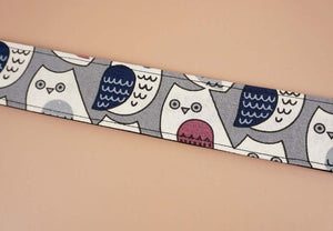 ukulele shoulder strap with cartoon owl printed-detail-2