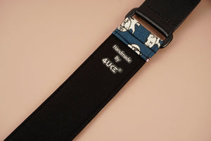 cartoon cat 3 leather ends ukulele shoulder strap-detail-4