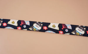 cute dog 1 leather ends ukulele shoulder strap-detail-1