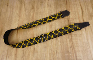 4uke guitar strap with yellow queen printed-front-1