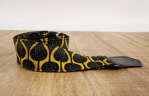 4uke guitar strap with yellow queen printed-detail-2