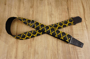 4uke guitar strap with yellow queen printed-detail-3