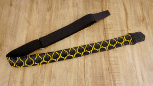 4uke guitar strap with yellow queen printed-back-1