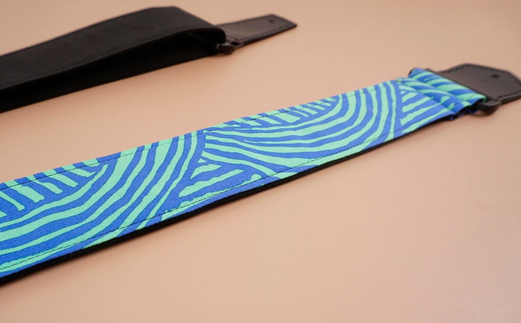 4uke guitar strap with dream printed-geometric patterns