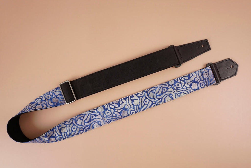 4uke guitar strap with maze printed-front-1