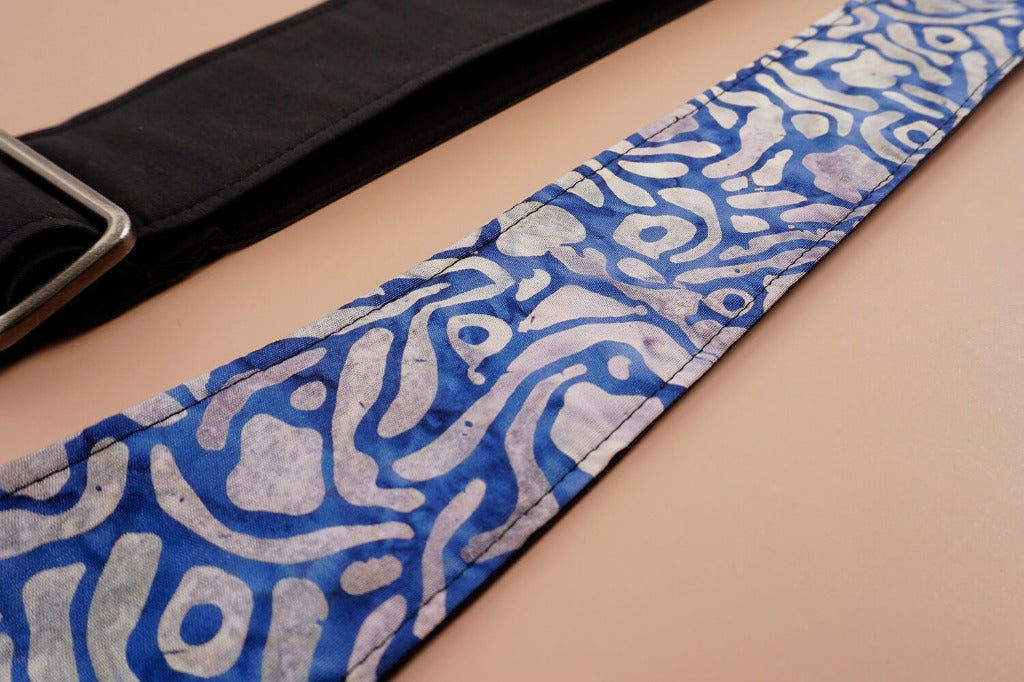 4uke guitar strap with maze printed-geometric patterns