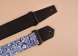 4uke guitar strap with maze printed-leather ends