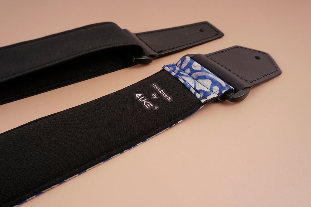 4uke guitar strap with maze printed-back