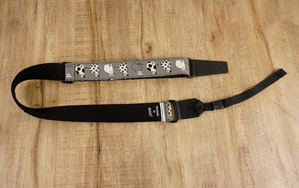 magic cat leather ends ukulele shoulder strap-detail-3