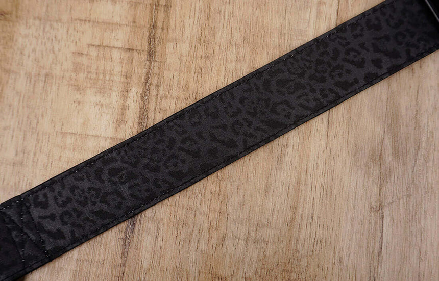 black leopard print ukulele hook strap no drilling, no button - 5
