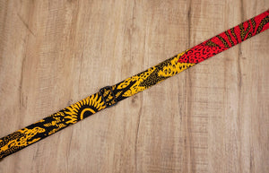 Passionate Africa ukulele shoulder strap with leather ends-4