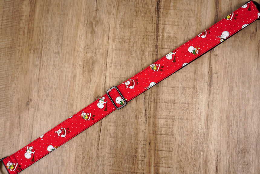 Santa Claus and snowman clip on ukulele hook strap-4