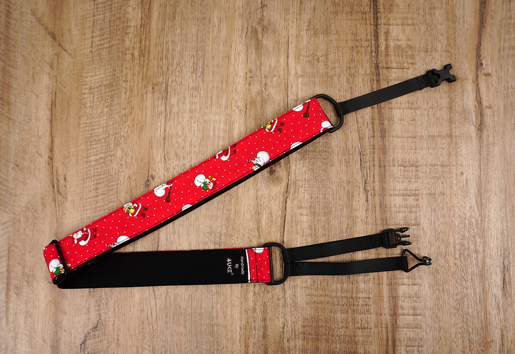 Santa Claus and snowman clip on ukulele hook strap-2