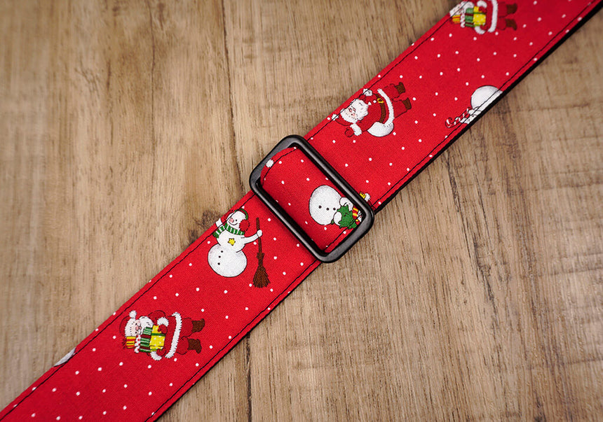 Santa Claus and snowman clip on ukulele hook strap-5