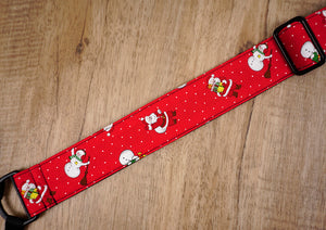 Santa Claus and snowman clip on ukulele hook strap-6