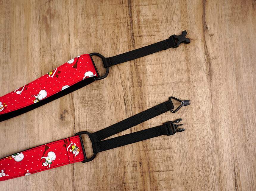Santa Claus and snowman clip on ukulele hook strap-7