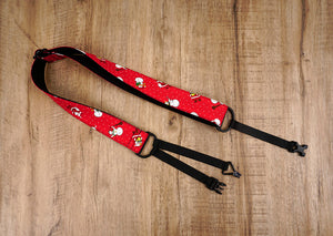 Santa Claus and snowman clip on ukulele hook strap-3